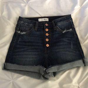 High waisted kancan shorts